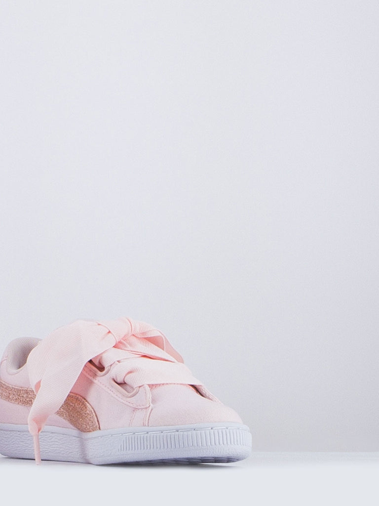 PUMA - Basket heart canvas rosa