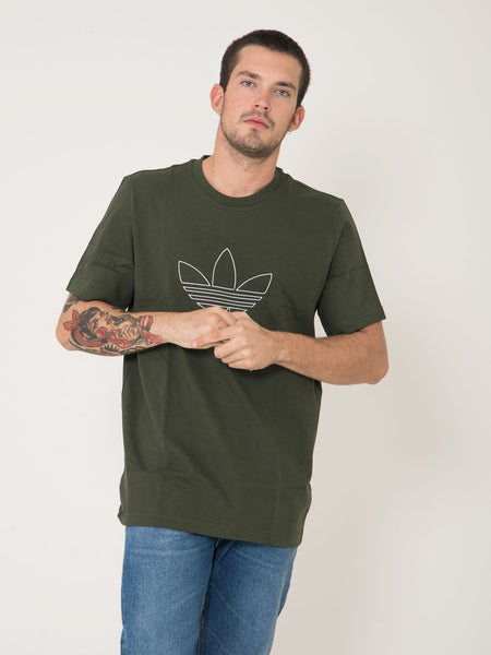 T-shirt outline verde