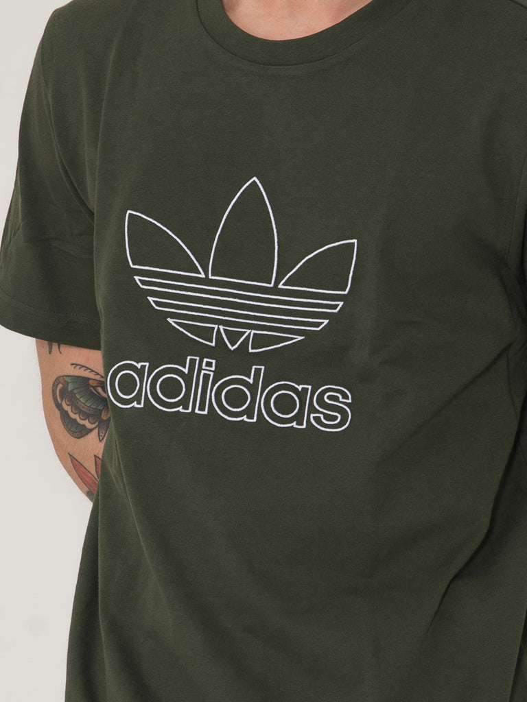 ADIDAS - T-shirt outline verde