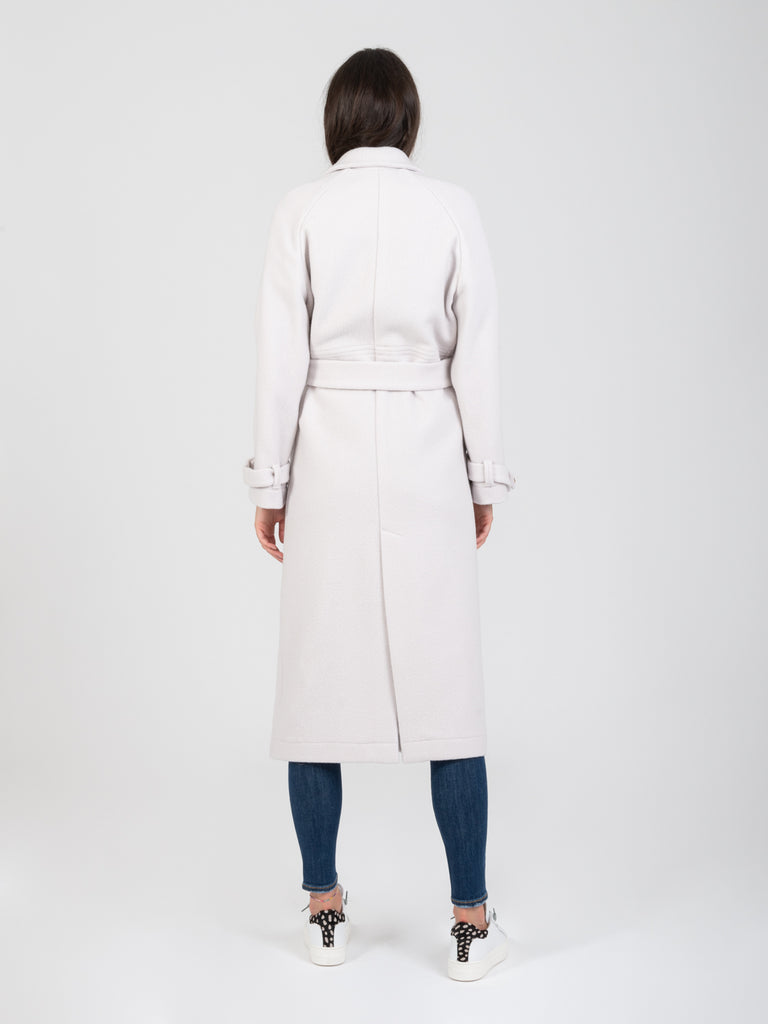 ALYSI - Cappotto felted wool ghiaccio