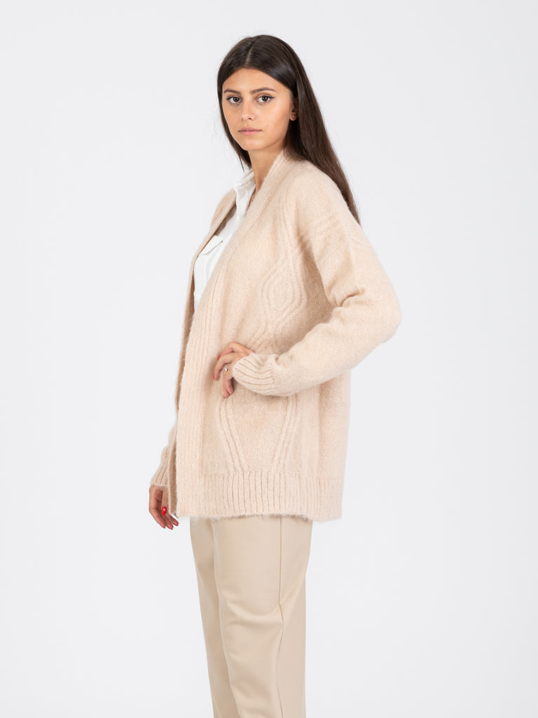 ALYSI - Cardigan colorful mohair avena