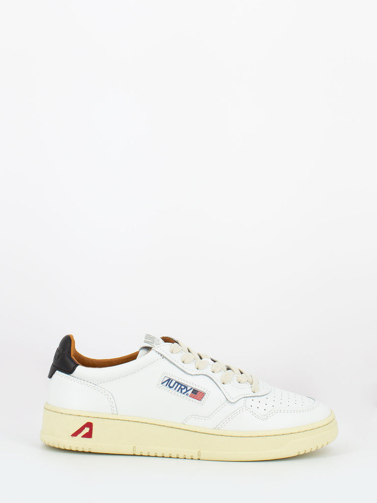 AUTRY - 01 low in pelle bianco / nero