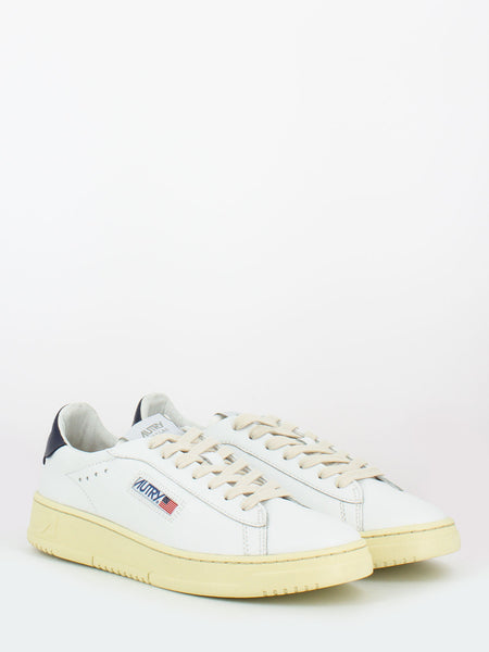 Dallas low in pelle bianco / space