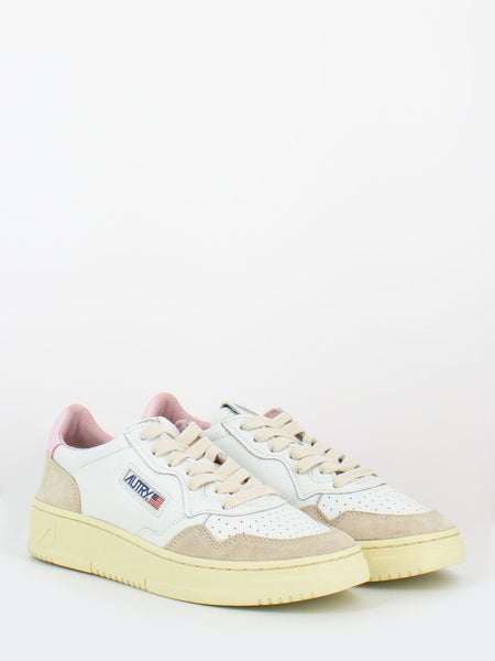 Sneakers 01 low bianco / rosa