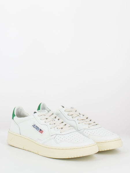 Sneakers 01 low pelle e nabuck bianco / amazon