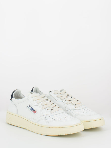 Sneakers 01 low pelle e nabuck bianco / space