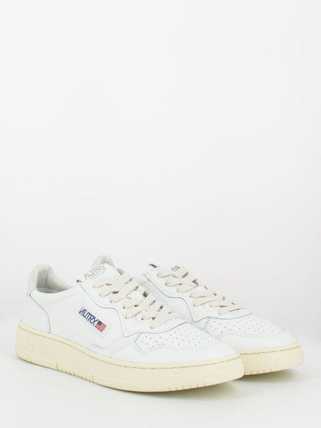 Sneakers 01 low pelle e nabuck total white
