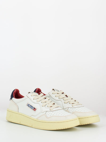 Sneakers 01 low whithe / blu