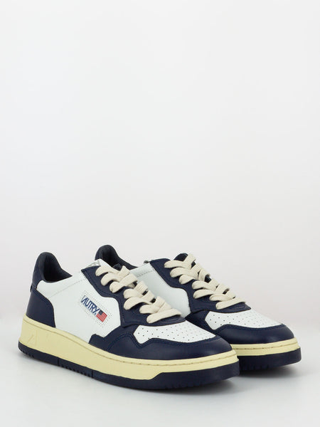 Sneakers 011 low bianco / blu