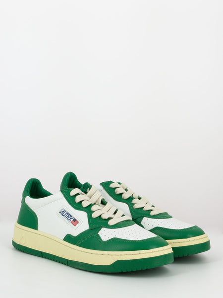 Sneakers 011 low bianco / verde