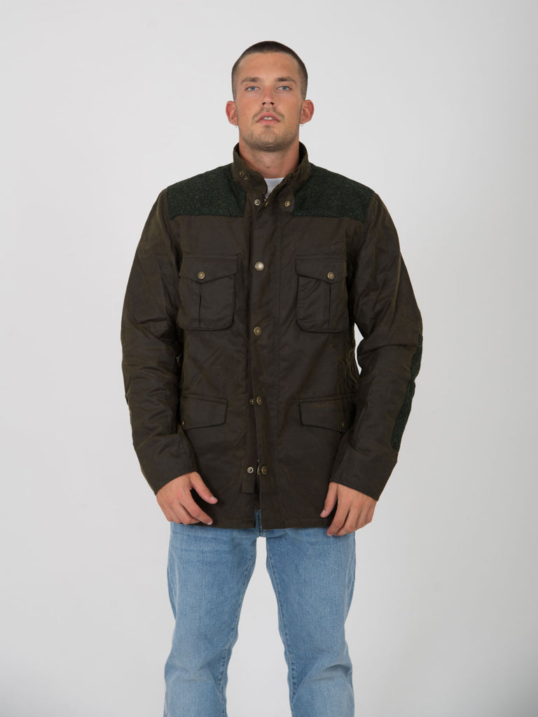 BARBOUR - Giacca tresco wax verde