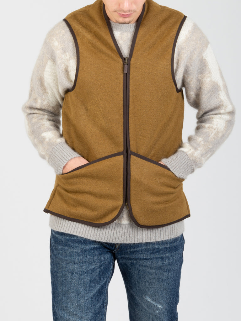 BARBOUR - Gilet Warm Pile Liner marrone