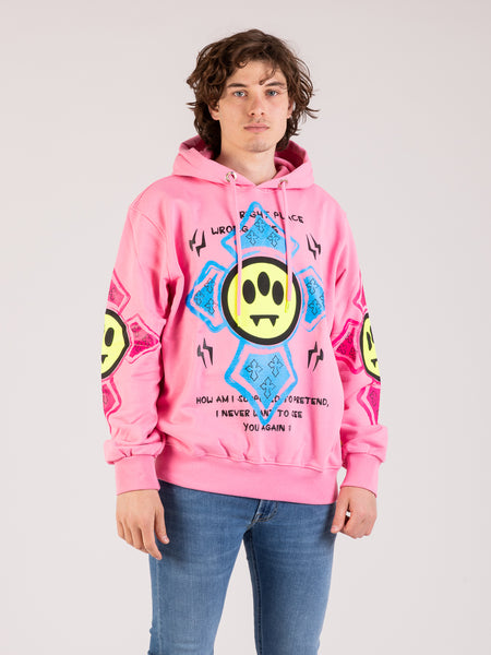 Felpa hoodie Smile Cross bubble