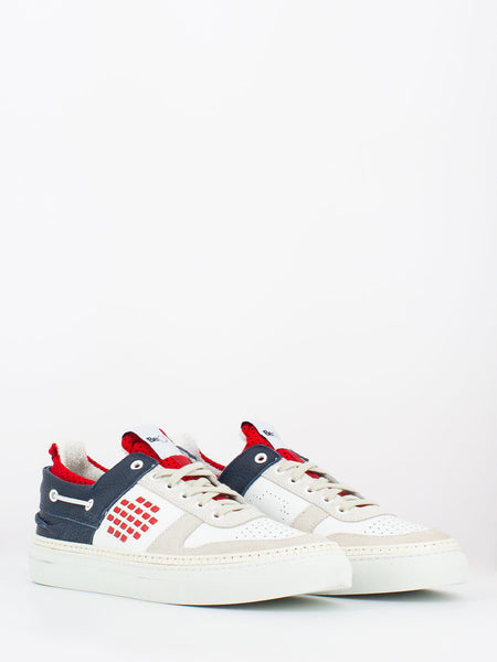 Sneakers sail force bianco / blu / rosso
