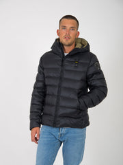 BLAUER - Piumino ultra light nero con cappuccio