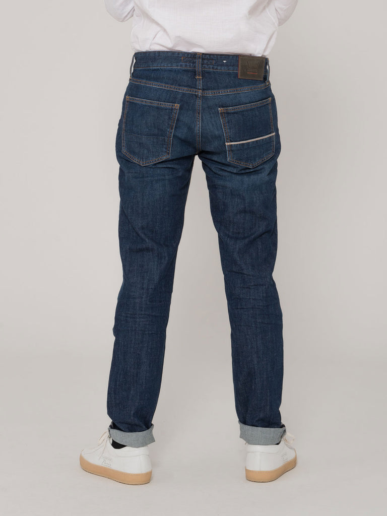 CARE LABEL - Bodies Barrel 212 denim scuro