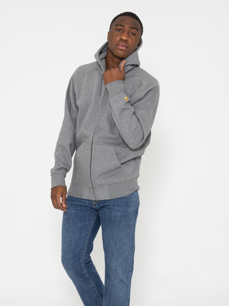 CARHARTT - Hooded Chase Jacket grigia