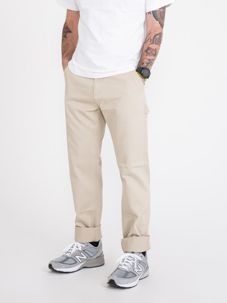Pantaloni Painter single knee beige