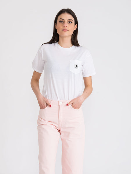 T-shirt Carrie Pocket bianca