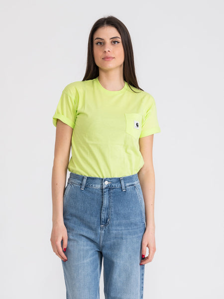 T-shirt Carrie Pocket lime
