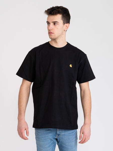 T-shirt mini logo black / gold