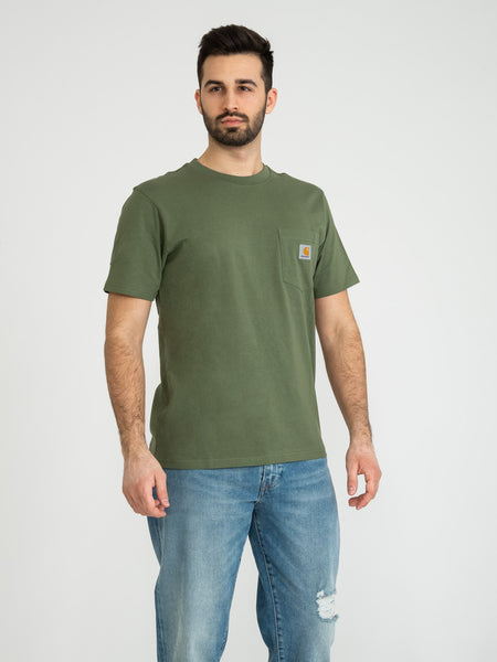 T-shirt Pocket dollar green