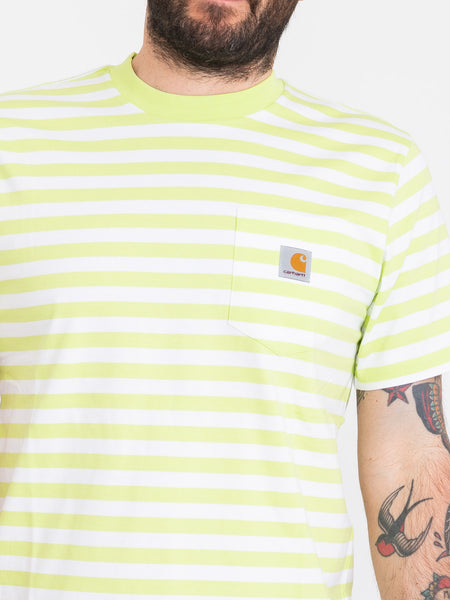 T-shirt Scotty Pocket lime / bianco