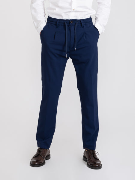 Pantaloni Mitte navy in fresco lana