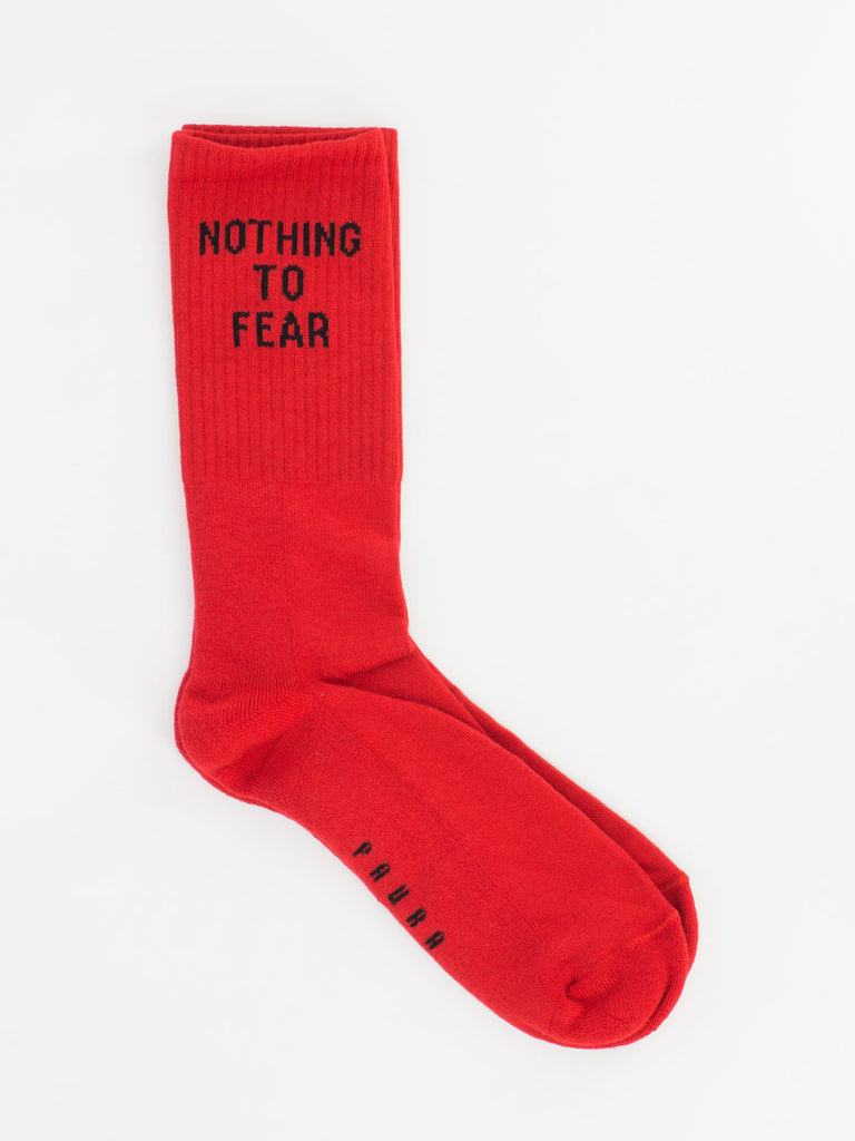 DANILO PAURA - Calzini Nothing to fear red