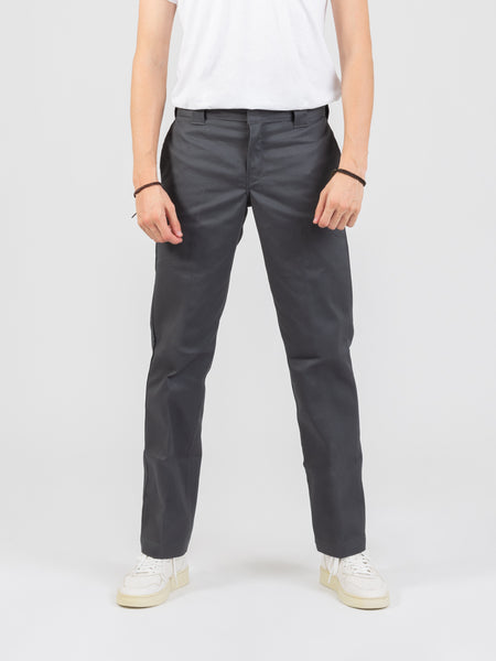 Pantalone slim straight grey