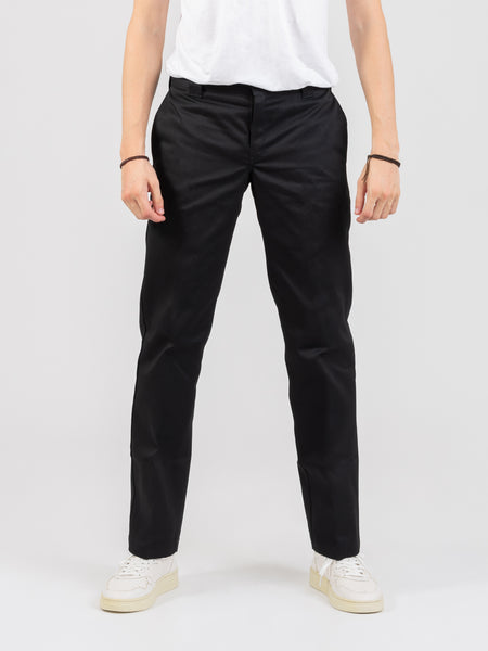 Pantalone slim straight nero