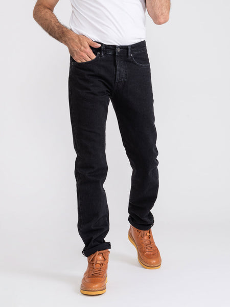 Ed 80 slim tapered denim nero