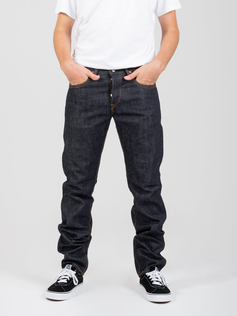EDWIN - Jeans regular tapered raw state denim scuro