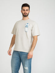 EDWIN - T-shirt Self Examination silver cloud