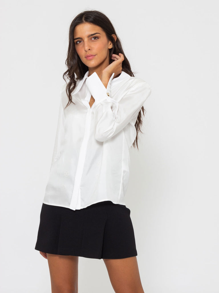 huge selection of 3bbc8 c8e89 Camicia in seta avorio