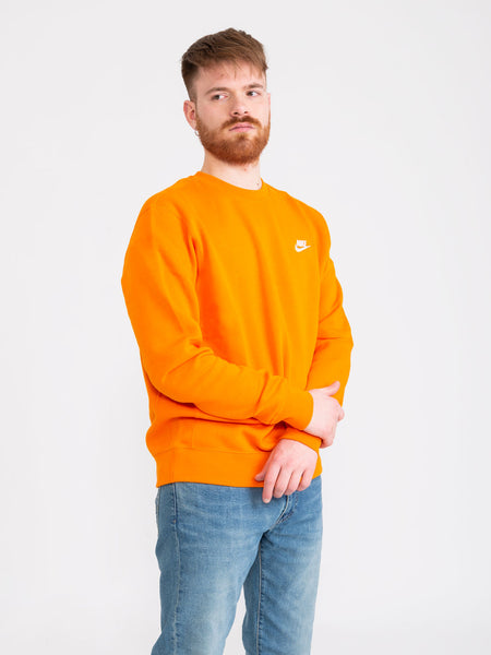 Felpa Sportswear Club Fleece arancione