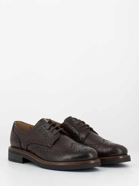 Derby in pelle marroni full brogue