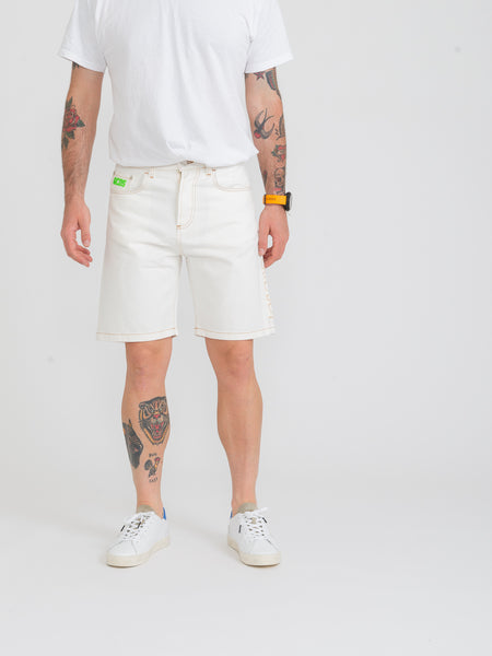 Bermuda Bucket denim bianco