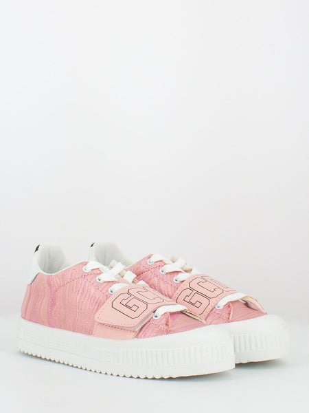 Sneakers rosa in lurex
