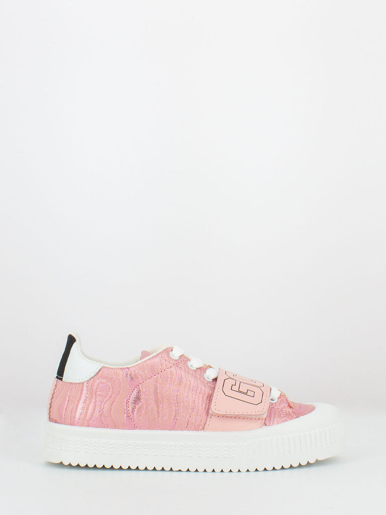 GCDS - Sneakers rosa in lurex