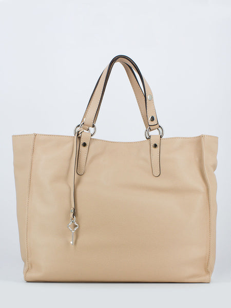 Maxi shopper in pelle martellata phard