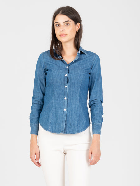 Camicia Mary chambray denim scuro
