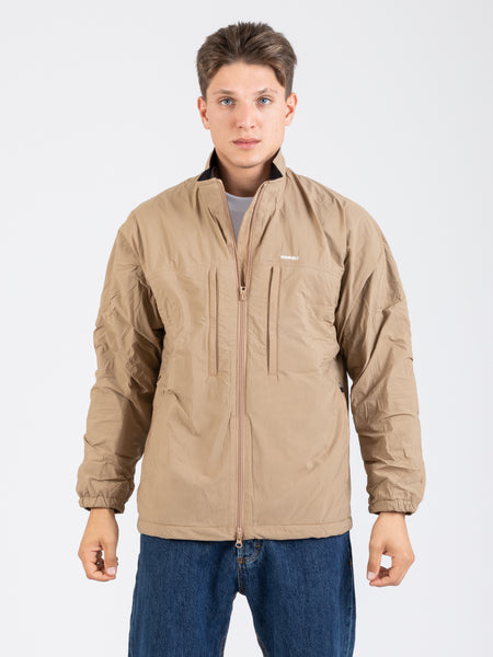 Giacca in nylon fleece beige