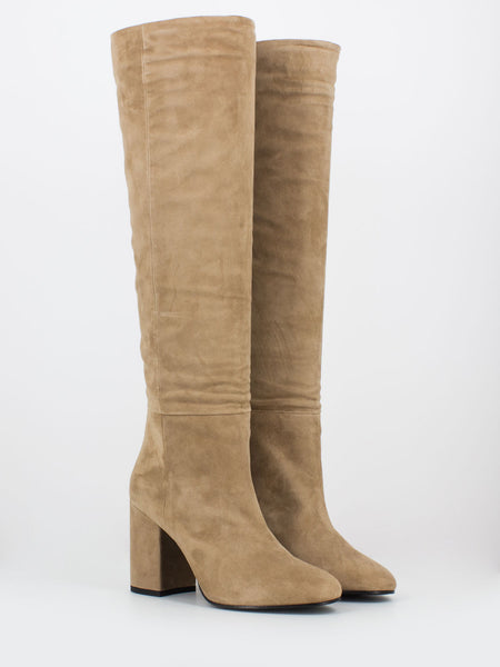 Stivali Lucy suede sand