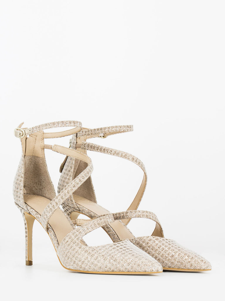 GUESS - D'orsay lurex oro / beige 85mm