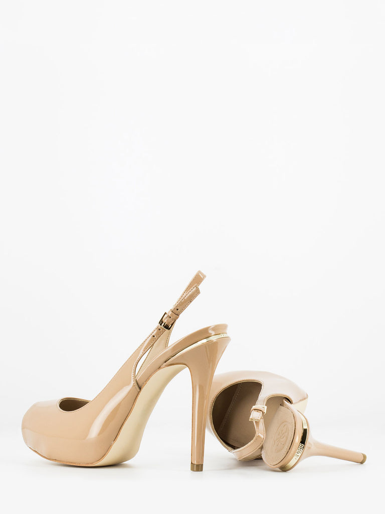 GUESS - Sandali open-toe in vernice nude