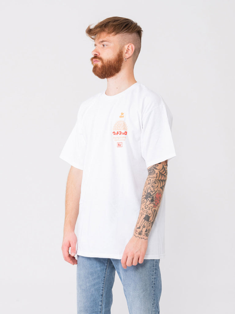 HUF - T-shirt Woodstock ww Culture bianca