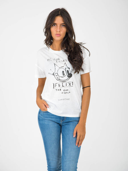 T-shirt felix the cat bianca