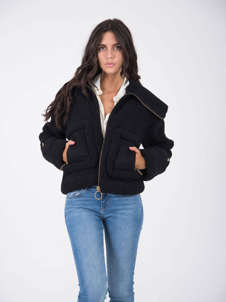 info for 71c80 5ce10 Giacca in eco pelliccia sweet fur nero