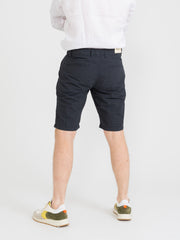 IMPURE - Bermuda chino comfort navy check